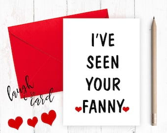 Funny anniversary card, Funny Birthday Card,  Boyfriend Card, Boyfriend Anniversary, funny card, funny rude card, Husband, for him, fanny