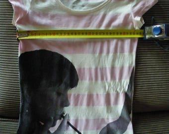 2 sides hand screen printed women tshirt