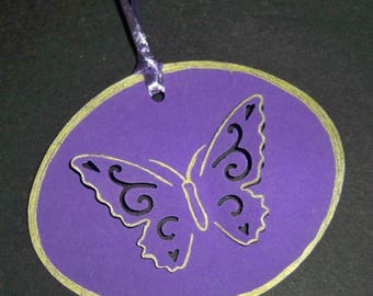 SCRAPBOOKING tag Butterfly 3d No. 3 color choices