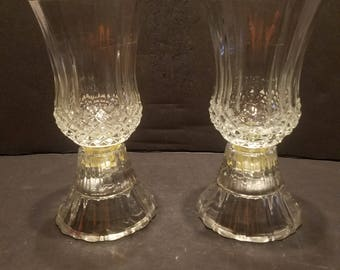 Crystal Candle Holders,  Set Of 2