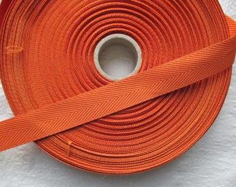 strap soft rust orange cotton 2.5 cm