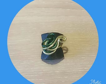 Green and dark green ring adjustable