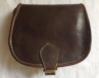 Hobo satchel shoulder 100% leather color Brown (dark brown)