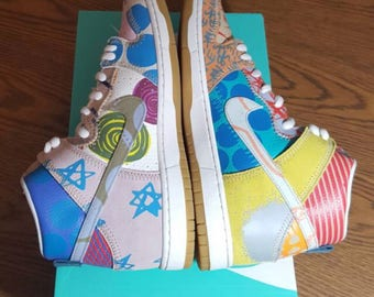Customized Air Force 1s Freestyle'd