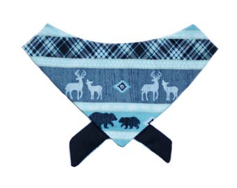 Into the Woods Tie on Pet bandana