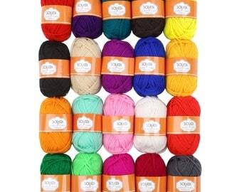 Set of 20 balls of wool acrylic knit