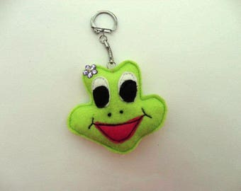 Froggy the frog key chain