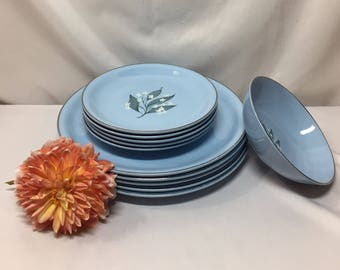 Homer Laughlin Skytone Stardust dinnerware  - 11 pieces