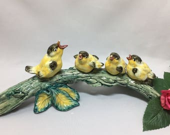 Stangl Pottery Birds Yellow Birds on Branch