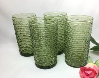 Soreno by Anchor Hocking Avocado Tumblers - set of 4