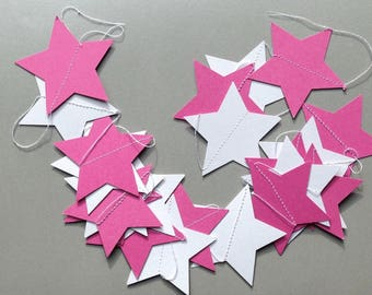 """Starry rain white and Pink Pearl"" Garland"