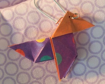 "Earrings ""cocotte"" origami"