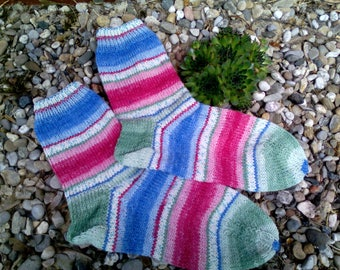 Handknitted socks size 40/41.
