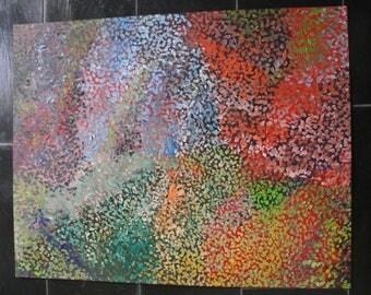 Acrylic painting, color match, Futurology