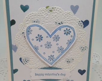 Valentine's Day Card Blue Heart