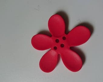Button 40 mm red orchid flower