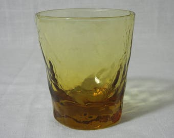 Morgantown Glass # 1962 Crinkle line Amber 'Double Old Fashioned' Tumbler