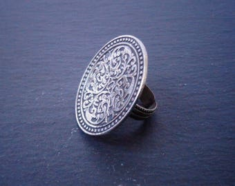 Vintage ethnic silver ring   oriental ring   Egyptian ring   ethnic ring   vintage ring   boho ring   geometric ring   floral ring