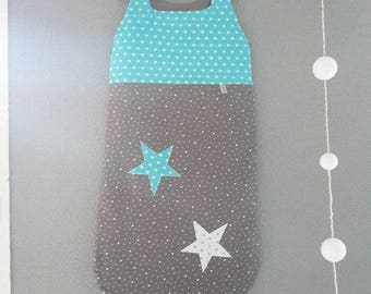 Swaddle baby size 12/24 month gray and turquoise to customize theme
