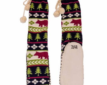 Matching Bear Fair Isle Mukluk's Slippers