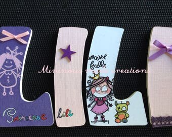 Order custom name wooden Lili