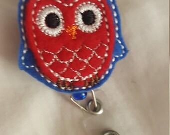 Patriotic Owl Badge Reel