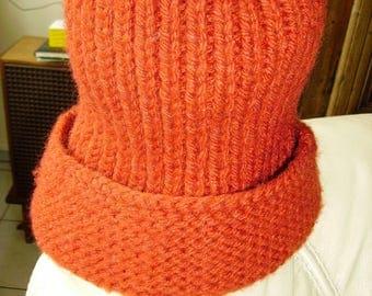 Hat rust woman handmade