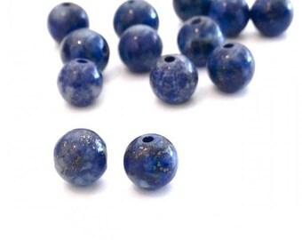 X 50 lapis lazuli ❤ ❤ 6mm stone beads
