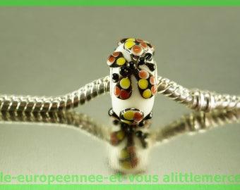 Butterfly bracelet charms necklace FAN600 European glass bead