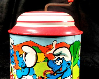 vintage toy/schtroumph Music Box/vintage music box