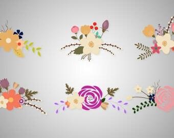 Flowers SVG / Flowers clipart / printable flowers / flowers digital / vintage flowers / floral bouquet/