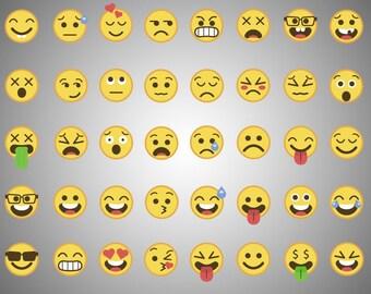 40x Emoji SVG cut file / emoji clipart / emoji printable / messenger emoji / png 300 ppi / EPS file / digital / instant download
