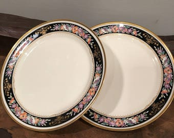 mikasa midnight sky a9204 two 2 bread and butter plates