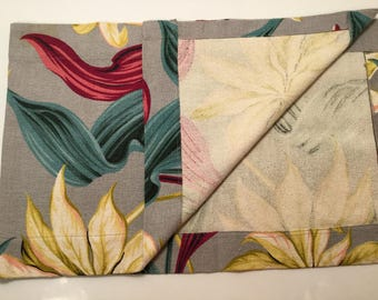 "Hawaiiana Vintage 40's/50's cotton Bark cloth Table Runner 14""x43"""