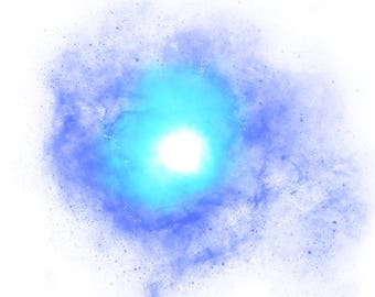 BLUE BURST - Watercolor 8x10