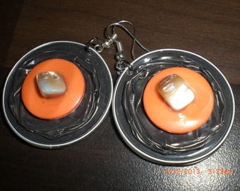 "Earrings ""Pearly orange"""