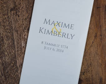 Tri-Fold Wedding Programs, Wedding Programs, Tri-Fold Programs, Tri-Fold Ceremony Programs, Three Fold Wedding Program, Three Fold Program