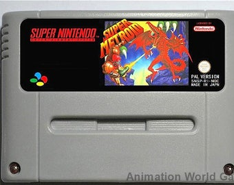Super Metroid SNES game Super Nintendo PAL new repro game