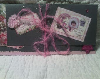 Gift pouch door post or check shabby chic Christmas