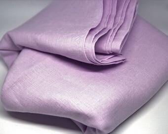Lavender linen fabric Light purple linen fabric Lavender fabric Light purple fabric Pure purple linen by meter Natural lavender linen fabric