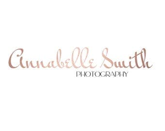 Pre-made Logo / watermark: Rose gold handwritten name