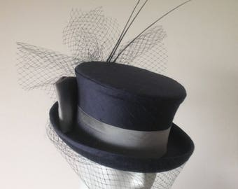 Two Shades of Grey!! Short Top Hat