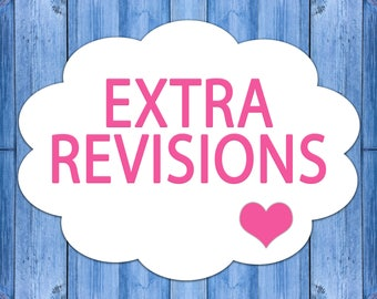 Extra Revisions, Further Changes, Changes to Your Order, Additional Revisions to Your Purchase from ShirleyDigital