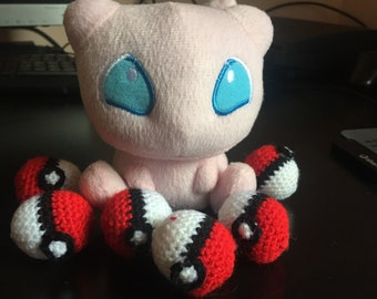 Amigurumi of Handmade Pokeball X6-Pokemon