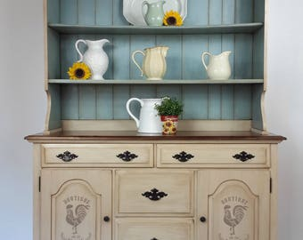 French Farmhouse Hutch, Shabby Chic, Vintage, French Country, Cottage,  China Cabinet