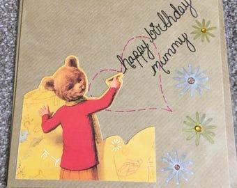 Handmade Birthday Card ' mummy'