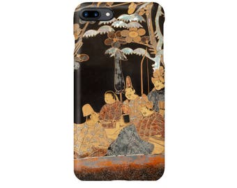 """iPhone case """"Writing Box with Design of Six Poets under a Cherry Tree and a Pine""""  iPhone5 iPhone6 iPhone7 iPhoneSE"""