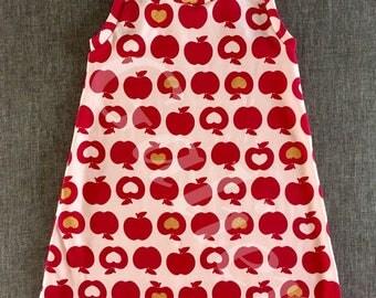 """Apple"" fuchsia jersey racer back dress"