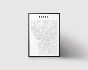 Porto Map Print