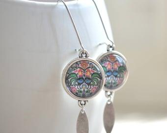 Big Russian design earrings